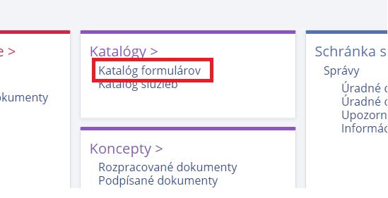 katalog formularov